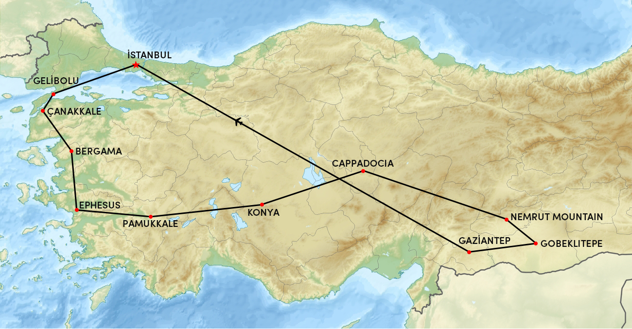 Treasures of The Ancient Turkey – 14 Days Tour