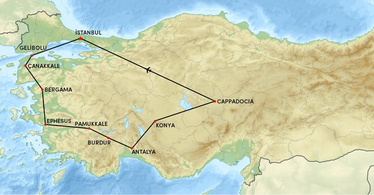Western Turkey Tour – 12 Days Tour